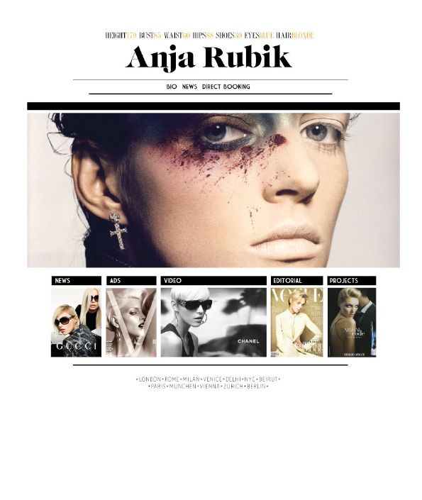 Anja Rubik - website