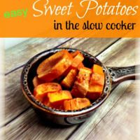Slow Cooker Recipe for Sweet Potato (Yams) - The Sassy Slow Cooker