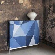 Papier peint panneau décoratif bleu Facet - Cole and Son - Au fil des Couleurs