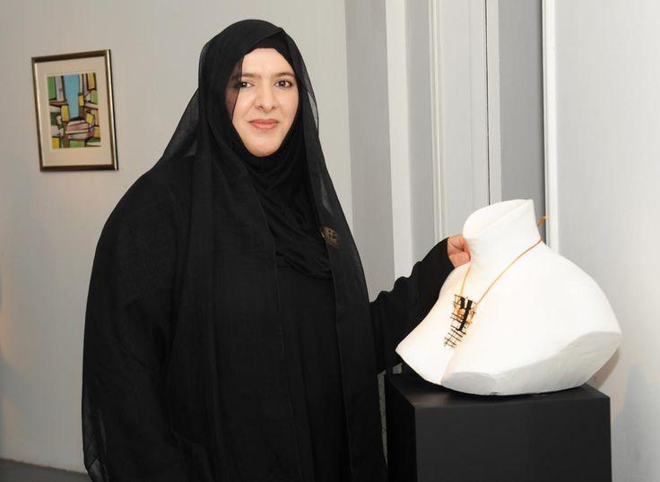 Sculpture To Wear ; Azza Al-Qubaisi  UAE artist /designer.