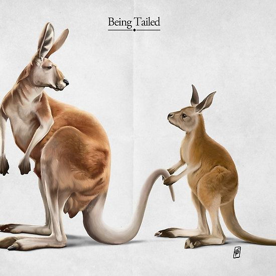 Being Tailed art | decor | wall art | inspiration | animals | home decor | idea | humor | gifts