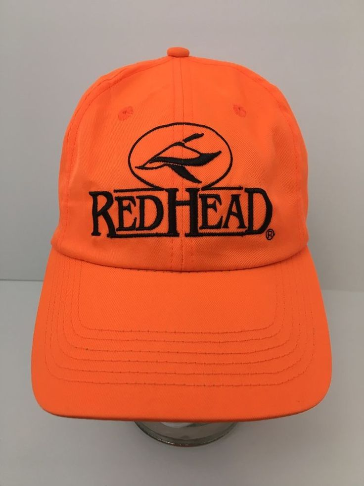 RedHead Red Head Blaze Orange Hat Snapback Baseball Cap Hunting Hunter Excellent #RedHead