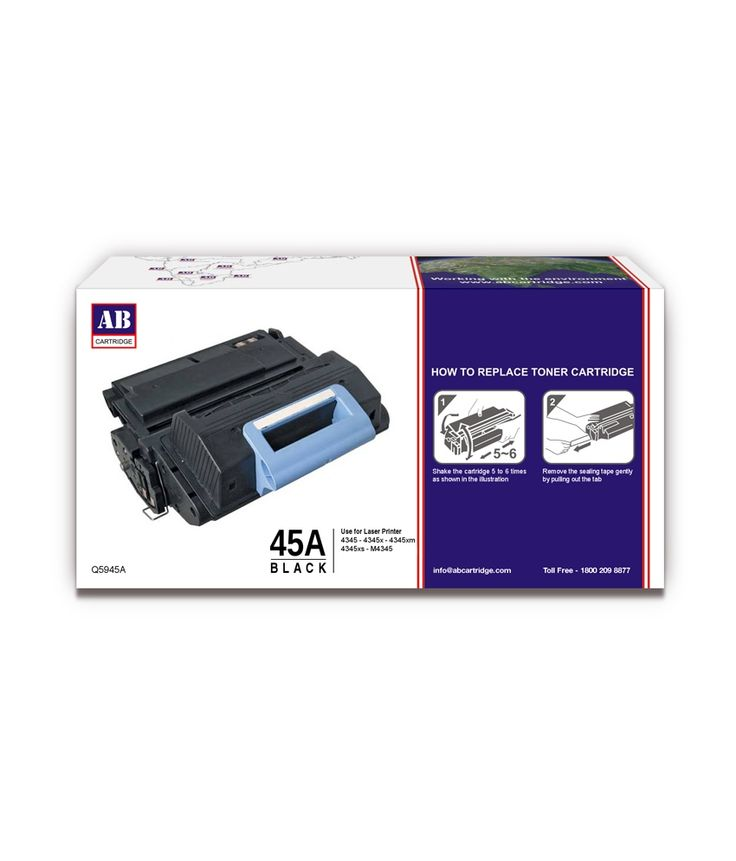 Loved it: AB 45A Black Toner Cartridge / HP 45A Black Toner / For HP LaserJet 4345, 4345x, 4345xm, 4345xs, M4345, http://www.snapdeal.com/product/ab-45a-black-toner-cartridge/82031417
