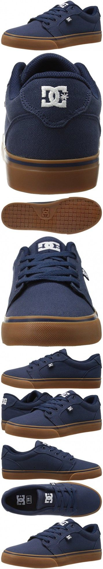 DC Men's Anvil TX Skate Shoe, Navy/Gum, 11 M US
