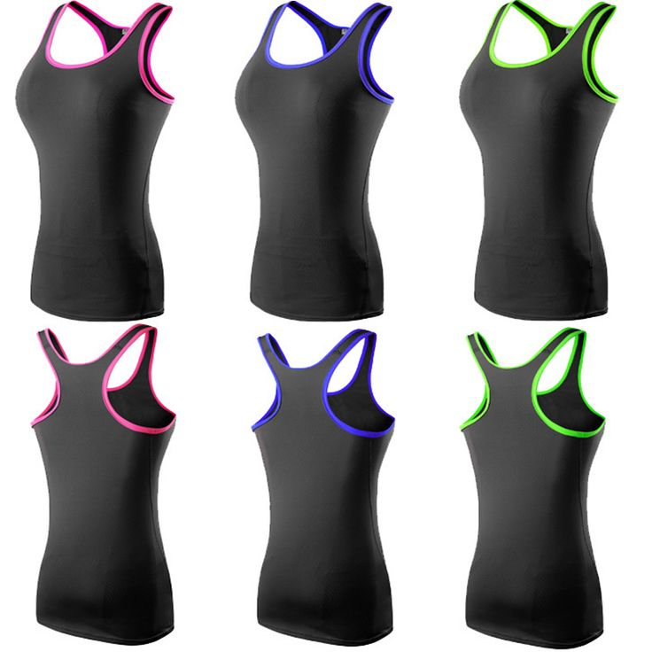 Womens Racerback Fitness Sports Yoga T-shirts Running Tank Tops Candy Color Base Layers Gym Wear Vest Sportswear