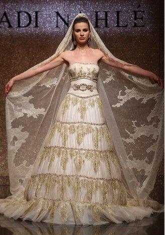 Asiya khaki wedding dress