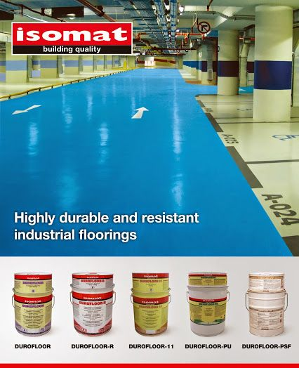 For industrial floorings of high durability and resistance in time, select the polymer-modified, epoxy or polyurethane floor coatings by ISOMAT.