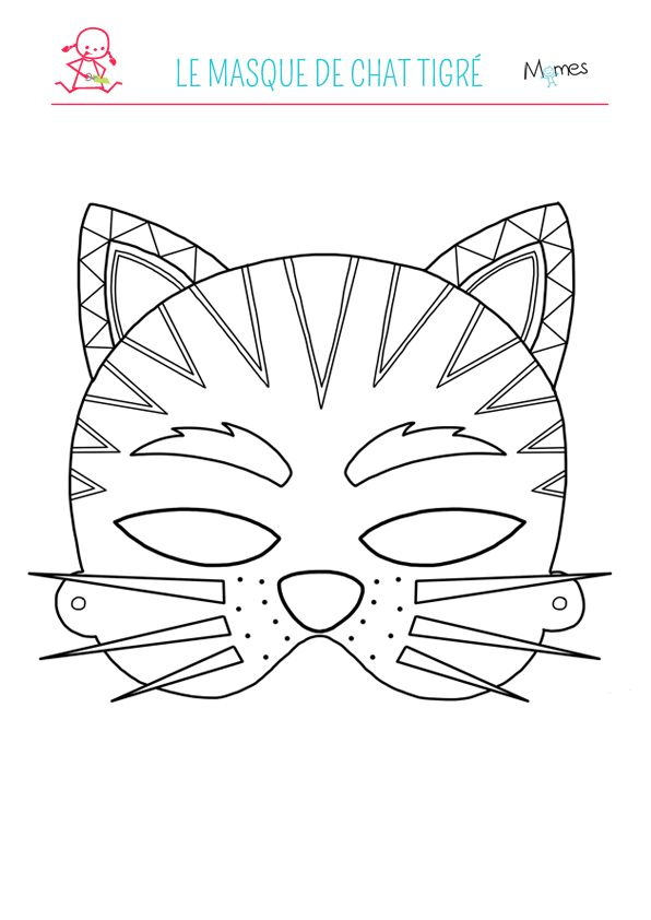 14 best masques images on pinterest carnivals costumes and mask template - Coloriage tigre ...
