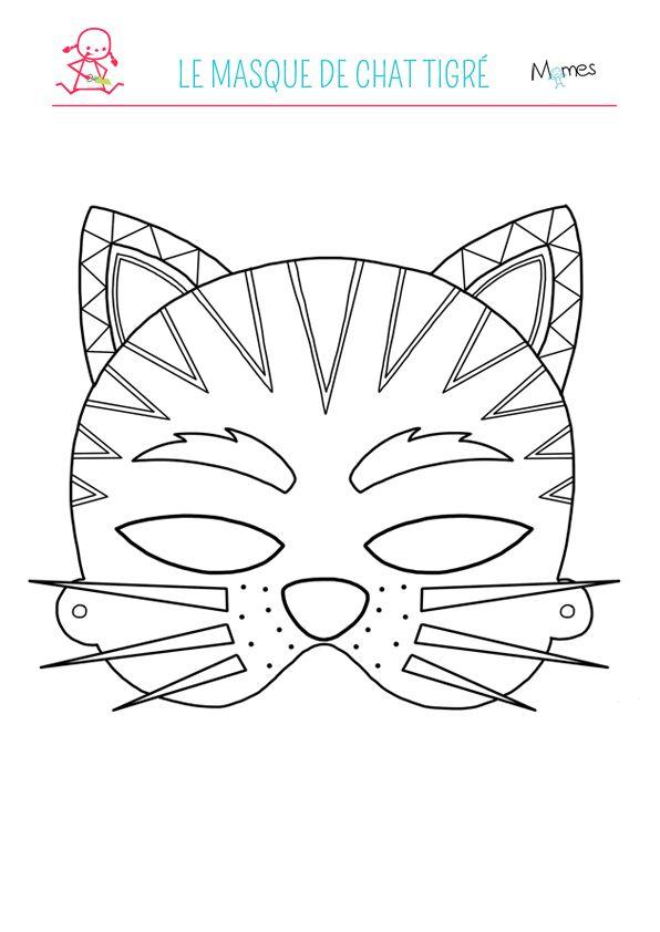 17 best ideas about masque de chat on pinterest masque chat d guisement de chat and - Chat a colorier ...
