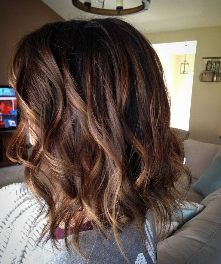Soft brown and caramel balayage