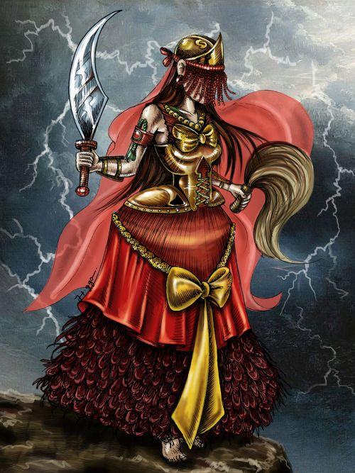 Guerreira dos Raios Iansã Senhora dos raios, deusa pagã dos relâmpagos, das…