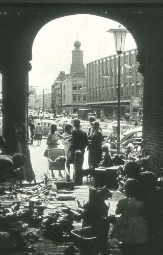 Grote Markt vanuit de Kerkboog, in de jaren '60
