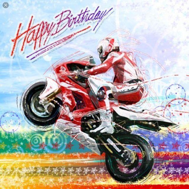 carte anniversaire homme moto Image Anniversaire motard de noba du tableau tablero | Joyeux