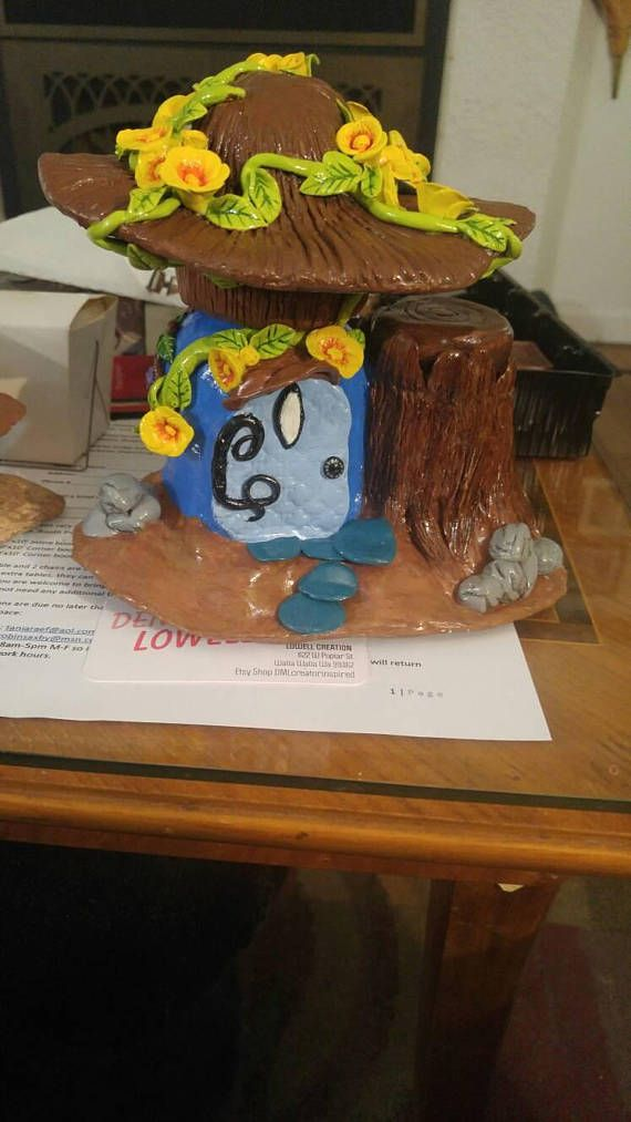 Check out this item in my Etsy shop https://www.etsy.com/listing/574786395/blue-fairy-house-double-stash-container
