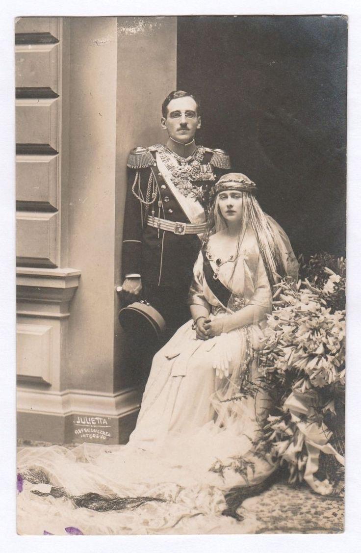 Rare Royalty Photographs. Wedding of King Alexander of Yugoslavia and Queen Mari in Collectables, Postcards, Royalty | eBay