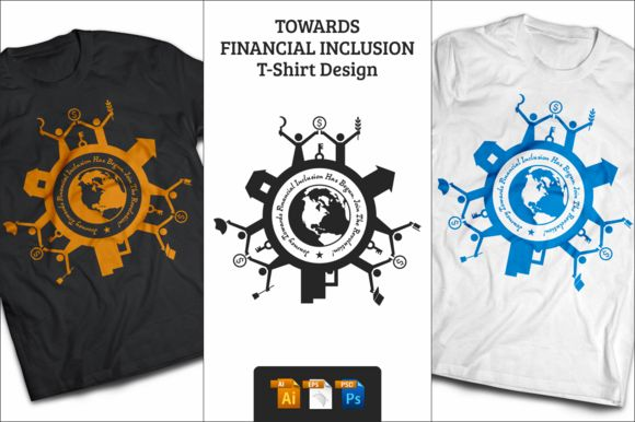 Financial Inclusion T-Shirt Design by BHARAT GRAPHICS on Creative Market