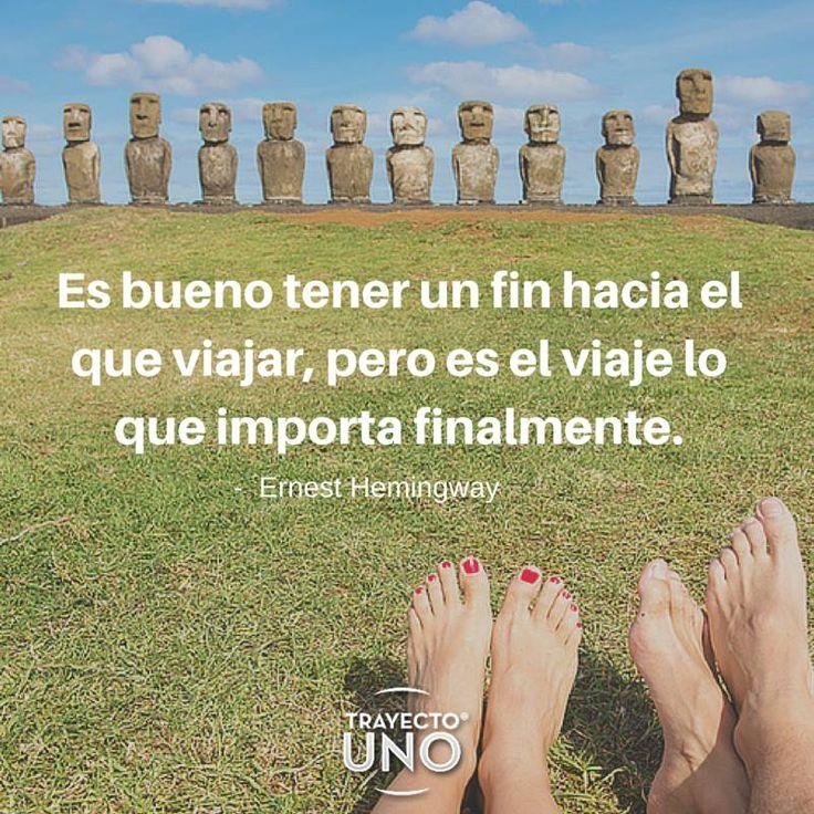 #Inspiration #travel #quotes #travelquotes #viajes #frases #viajeros #hemingway