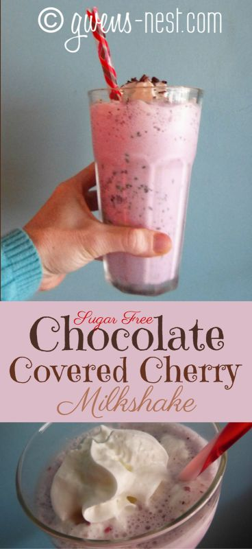 chocolate covered cherry milkshake- it takes JUST like the real deal, but it's totally sugar free and low carb.