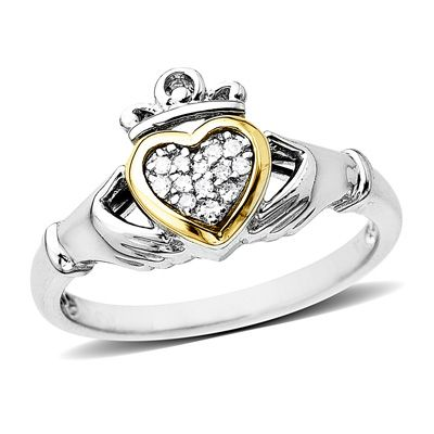 This is the claddagh ring my hubby gave me when we got engaged.  I've seen lots of different styles over the years but this is my all-time favorite.  So perfect!
