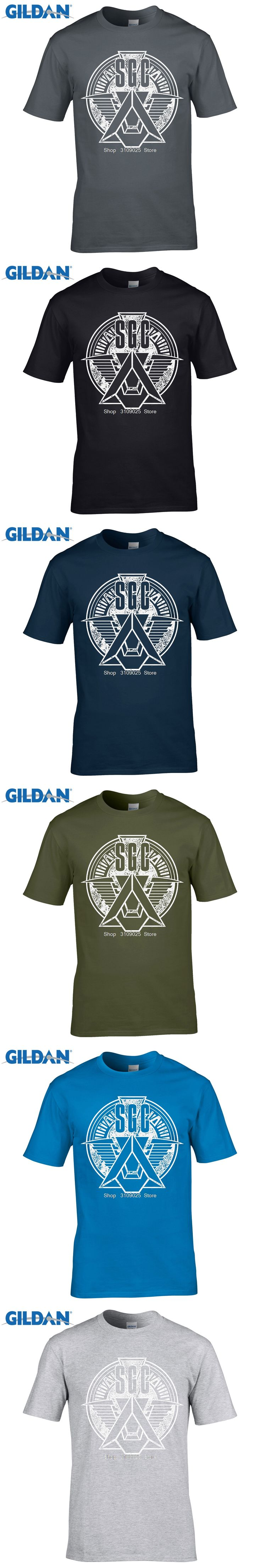 GILDAN 2017 Sale Promotion Fashion Broadcloth Cotton Tee Custom T Shirts Cheap Short Stargate Military Men Printing O-neck Shirt