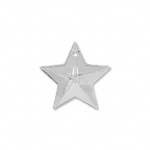 Swarovski® 20mm star crystal clear pendant pk1
