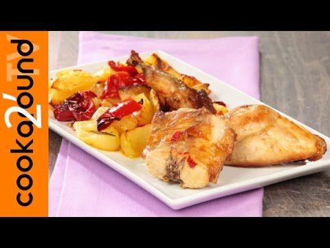 Coniglio arrosto con patate e peperoni - YouTube