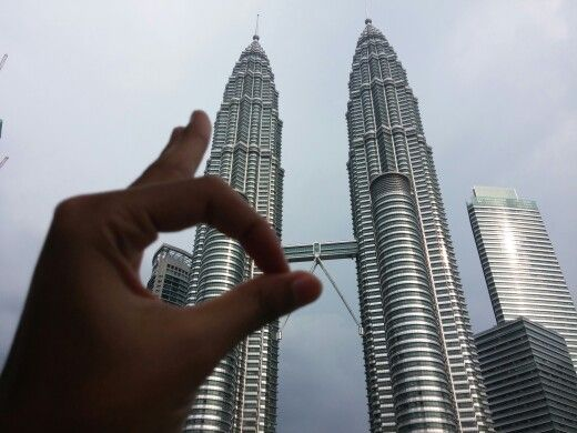 Humpz at Petronas Tower,Malaysia                            ● cr Photo by my friend ●