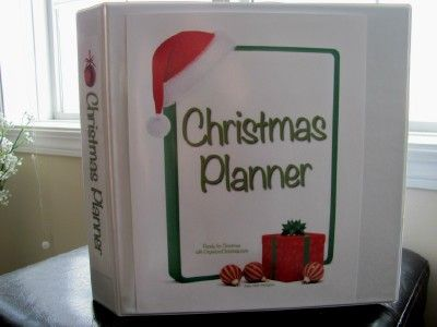 Free Christmas Planner Printables ~ This is such a great idea!!!