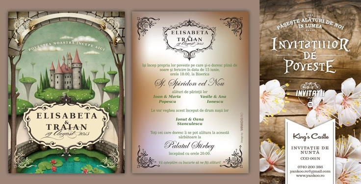 King's Castle - Wedding Invitation - www.yankoo.ro