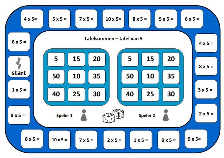 Spelbord tafel van 5.