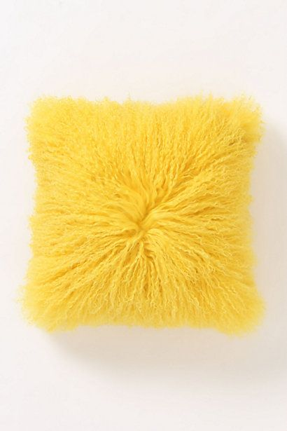 Anthropologie Fleece Flounce Pillow, great for adding a pop of color to a room and SO soft!