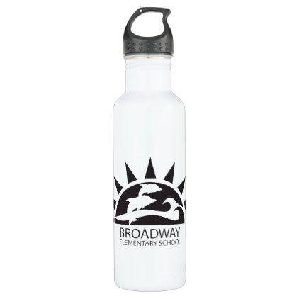 Water Bottle_School Logo Stainless Steel Water Bottle - home decor design art diy cyo custom