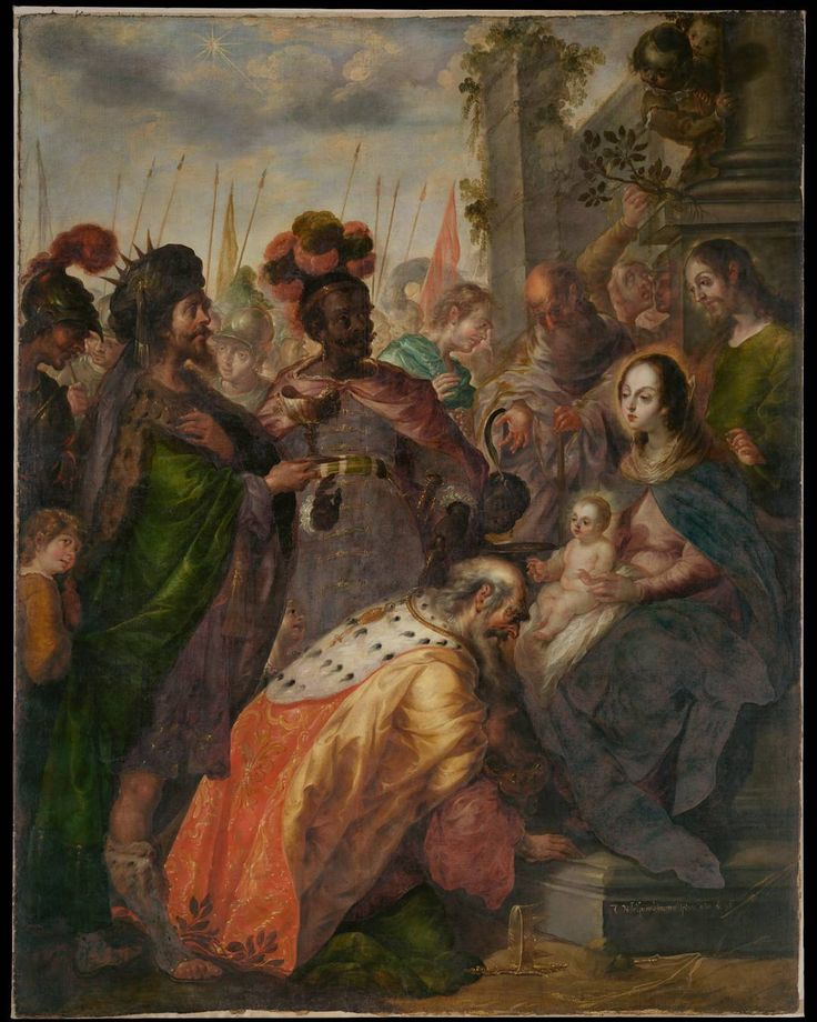 "Open today, ""Cristóbal de #Villalpando: Mexican Painter of the Baroque"" features eleven works, most of which have never been shown in the United States. Highlights of the exhibition include Villalpando's recently discovered ""Adoration of the Magi,"" on loan from Fordham University, and ""The Holy Name of Mary,"" from the Museum of the Basilica of Guadalupe. Cristobal de Villalpando (Mexican, ca. 1649–1714). The Adoration of the Magi, 1683. Fordham University Collection  #TheMet…"