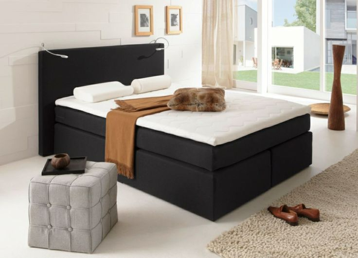 savanna boxspringbett doppelbett schwarz h rtegrad 3 140 x 200 cm schlafzimmer pinterest. Black Bedroom Furniture Sets. Home Design Ideas