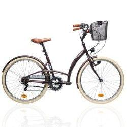 VELO Velos Vélos, cyclisme - VELO VILLE ELOPS 320 VIOLET B'TWIN - Vélos