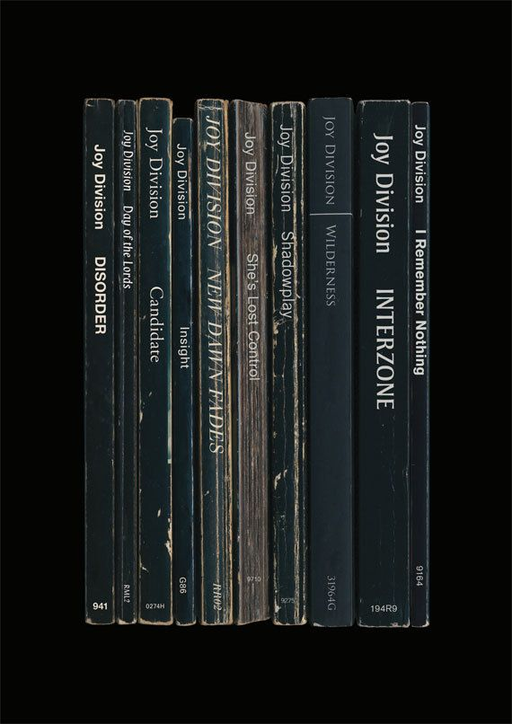 Joy Division 'Unknown Pleasures' Album As Books Poster Print. £12.50, via Etsy/ standarddesigns