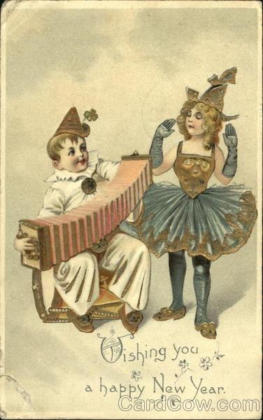 Accordion clown
