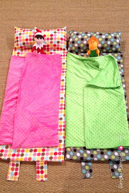 DIY Nap Mat. I may have pinned this before, but I totally want to make something like this for my kids one of these days, and I like these with the built in blankets.