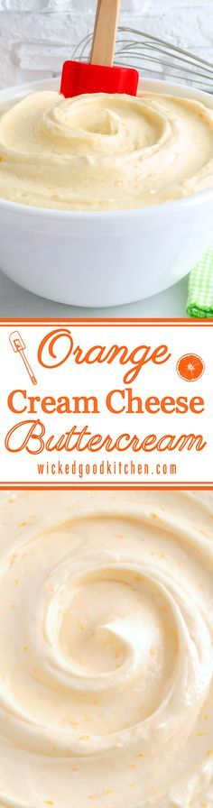 Orange Cream Cheese Buttercream ~ Rich, creamy, light & fluffy and packed with citrus flavor, this incredible buttercream is made with orange curd, zest and a special extract, has the texture of mousse and tastes just like orange cheesecake! Perfect for refreshing spring and summer cakes, cupcakes and desserts. Pipes beautifully!