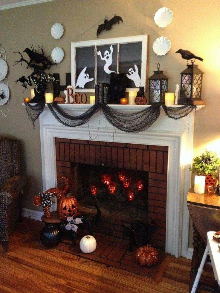 Halloween mantel                                                                                                                                                                                 More