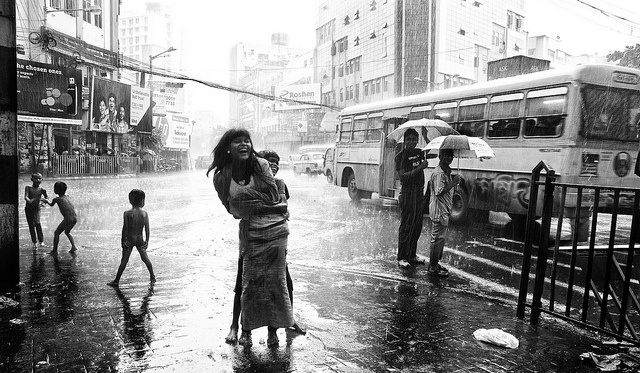 street children of Kolkara, jubilant with the blissful rain after a scorching summer... 'Malhaar ' means rain in Hindi (also often used to express the 'dance of joy'!