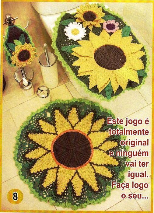 Crochet bathroom  ❤️LCB-MRS❤️ set with diagrams.