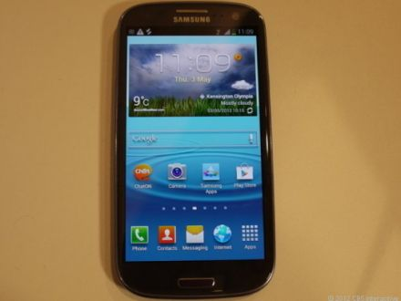 Samsung Galaxy S III Review (pebble blue, unlocked) - http://reviews.cnet.com/samsung-galaxy-s3-review/