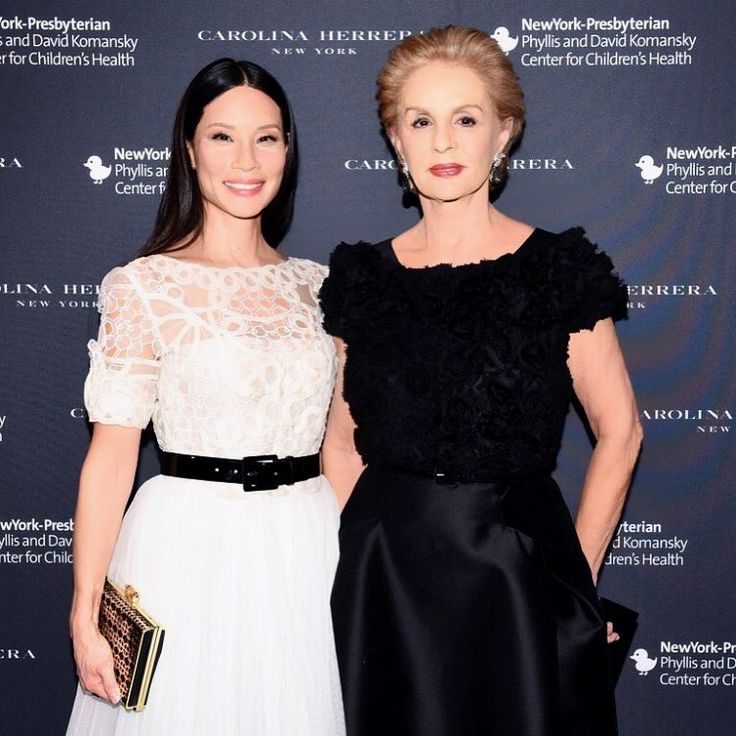 Lucy Liu with Carolina Herrera at the Annual Plates for Paediatrics Benefit. (20/