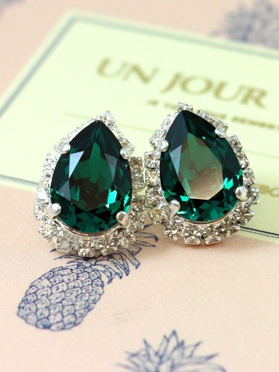 Check out this item in my Etsy shop https://www.etsy.com/il-en/listing/253297307/emerald-stud-earringsemerald-crystal