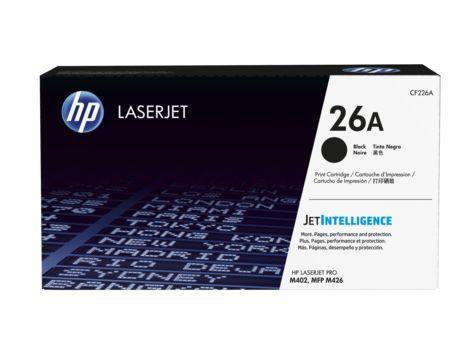 HP 26A Black Original LaserJet Toner CF226A. HP LaserJet Pro M402 series, HP LaserJet Pro MFP M426 series LaserJet Toner CF226A. HP Black Toner Original 26A