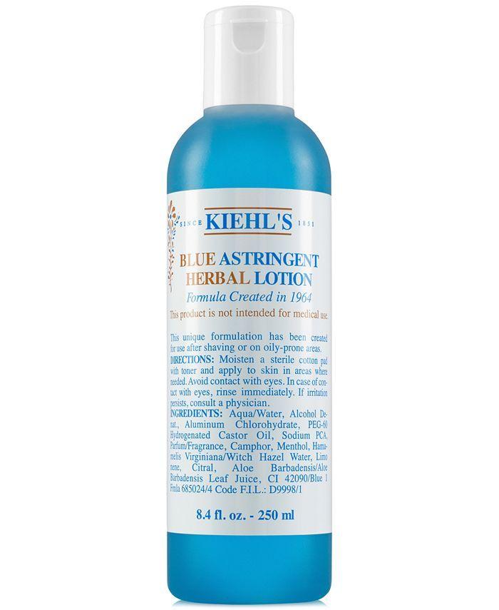 Kiehl S Since 1851 Blue Astringent Herbal Lotion 8 4 Oz Reviews Skin Care Beauty Macy S In 2021 Herbal Gel Gel Cleanser Lotion