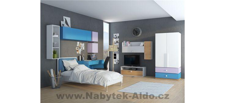 Dětský pokoj pro kluka v modré barvě