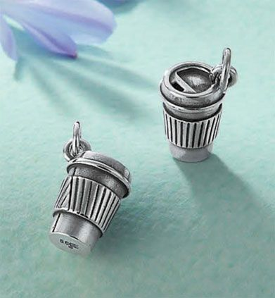 A sterling silver charm for the coffee lover who s always on the move and  ready to a0a55d1bc0576