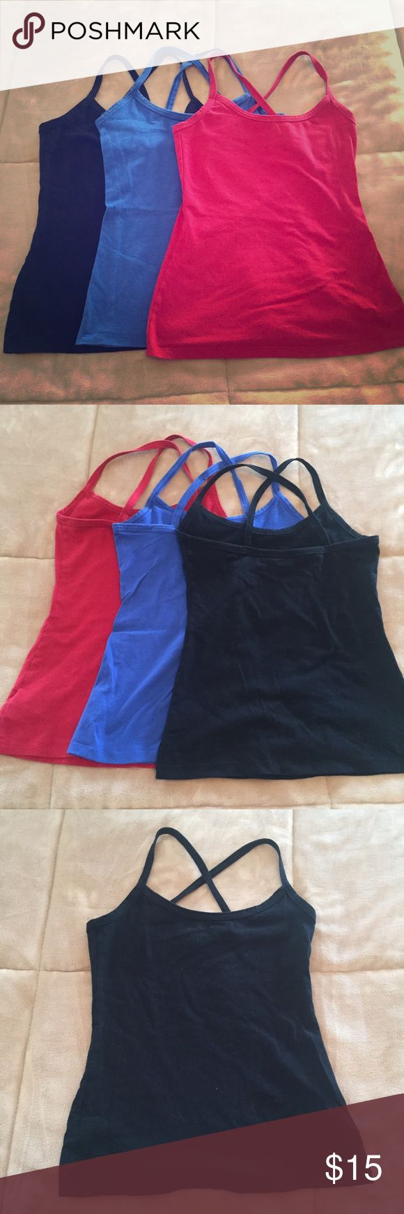 Set of 3 Old Navy cami tank tops Selling Set of 3 Old Navy cami tank tops. Washed and worn but good condition. Old Navy Tops Camisoles